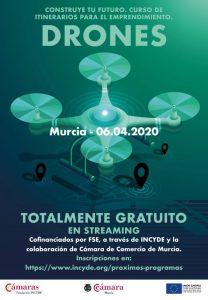 Cartel Curso de Drones online de Murcia